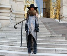 Photos by Isabel Dosal  (DRESS Tete by Odette from Zaitegui New Collection here, JEANS Zara, SHOES Zara, HAT H&M, GLOVES Zara, BAG Chanel, FUR NECK Tete by Odette here)
