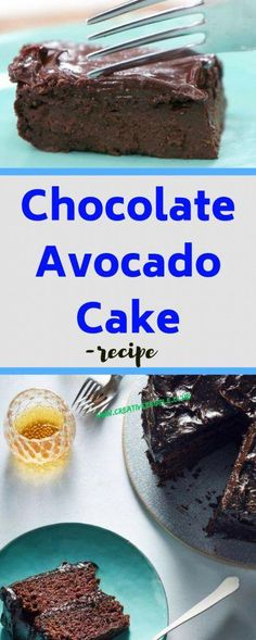 - Kreative Leute - Food and Drink - Avocado Avacado Chocolate Cake, Paleo Chocolate Cake, Vegan Cake, Chocolate Recipes, Paleo Dessert, Vegan Desserts, Vegan Food, Vegan Recipes, Creative People