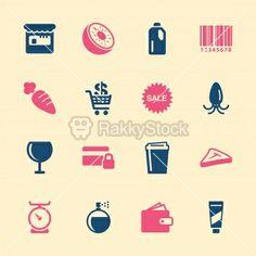 Supermarket Icons Set 2 - Color Series