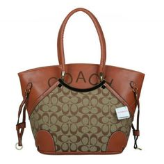 Coach Logo Monogram Small Beige Totes BKH Give You The Best feeling!