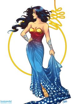 Hanie Mohd's Wonder Woman - Every gal deserves a dress like this one. Wonder Woman comes into conflict with the Soviet Union during the Cold War in the and finds a formidable foe by the name of the Cheetah. Ms Marvel, Marvel Avengers, Supergirl, Beyonce, Rihanna, Superman, Batman Art, Tattoo Painting, Painting Art