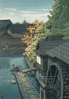 Kawanishi, Tochigi Prefecture Alternate Title: 栃木県河西町 Kawase Hasui (Japan…