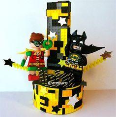 Batman and Robin Lego cake topper HAPPY BIRTHDAY ELIJAH batman