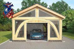 SunShine-Glulam-Timber Frame- 5.5m x 9.0m Garage. Designed by www.logcabins.lv  (2)