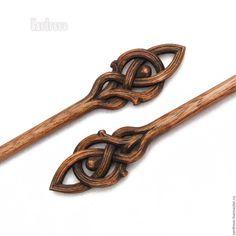 """Купить Шильки из дерева резные""""Стрелы Галадрим"""" - заколка, шпильки, шпилька, для…"""