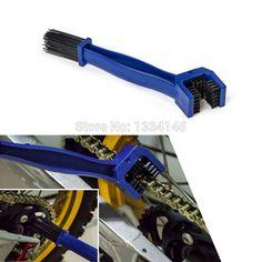 New Motorcycle Bike Chain Maintenance Cleaning Brush Cycle Brake Remover For Honda/Yamaha/KTM/Kawasaki/Suzuki/BMW Blue Tools
