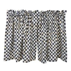 MacKenzie-Childs - Courtly Check Cafe Curtains - Set of 2