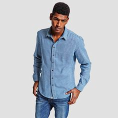 Beaumont Check Slim Fit Button Cuff Shirt