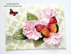 {Sun} Sweets: Mixed Media Foil Butterfly Card