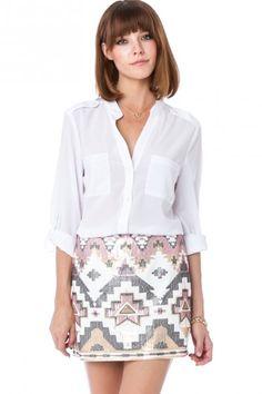 Dominique Sequin Skirt » Cute!