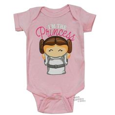 #starwars i am the princesss leia licensed #baby infant snapsuit from $19.95