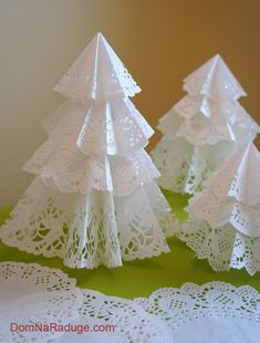 Елочки из салфеток для уборки и другие новогодние украшения. МК   oblacco