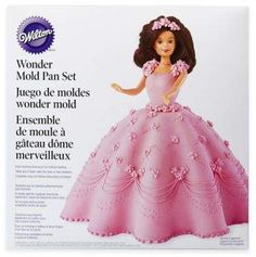 Become a cake decorating expert with the help of this Wilton® Classic Wonder Cake Mold Kit. This mold creates a magnificent doll cake that will have your guests thinking a professional made it. Perfect for princess and birthday parties. Bed Cake, Prince Cake, Cake Supplies, Sponge Cake Recipes, Buttercream Recipe, Doll Beds, Cake Tins, Cake Mold, How To Make Bed