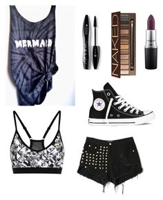 """Untitled #13"" by jemimacummings on Polyvore featuring NIKE, WithChic, Converse, Urban Decay, Lancôme and MAC Cosmetics"