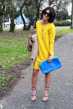 amarelo + azul