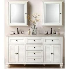 Best Photo Gallery For Website Home Decorators Collection Hamilton in W x in D Double Bath Vanity in Ivory with Granite Vanity Top in Grey