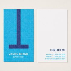 Shop Swim Coach Business Card created by Personalize it with photos & text or purchase as is!