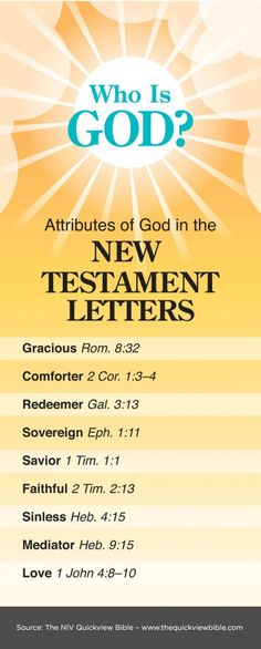The Quick View Bible » Attributes of God in the New Testament Letters