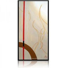 "Geometric Painting by artist Amaury Dubois | Oil painting on canvas 100x50cm. ""zen"" #geometric #zen#zenpainting#geometricpainting #lines #painting #abstraction #abstract #geometricabstract #modern #oilpainting"