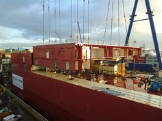 CB04b being lifted into place by QEClassCarriers, via Flickr
