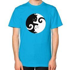 Cats Rule Unisex T-Shirt (on man)
