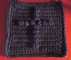 Confirming His Covenant: Puff Cross Prayer Square Free crochet pattern For my religious family