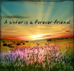 A sister is a forever friend @Irishpenguin18
