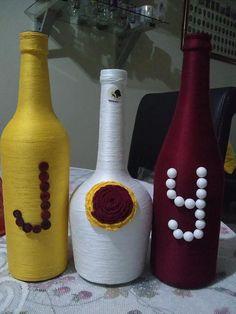 bouteilles décoratives Bottle Crafts, Elegant, Interiors, Home Decor, Bottles, Decorative Bottles, Classy, Decoration Home, Room Decor