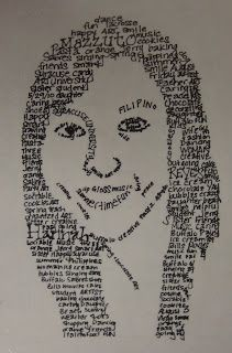 : Micrography Portrait - have done this with and used Texas Hero's to integrate with Social Studies High School Art, Middle School Art, Poesia Visual, 8th Grade Art, Ecole Art, School Art Projects, High Art, Arte Pop, Elements Of Art