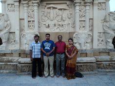 Me, Mr & Mrs Ramanujam and Mr. Manimaran @ Kanchi Kailasanathar Temple