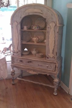 antique chic china cabinet french blue by VintageChicFurniture, for my dining room. It's gorgeous!!!!