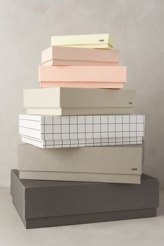 Home Decorating DIY Projects: hay farce box set awesome storage pieces! Office Storage, Storage Boxes, Living Furniture, New Furniture, Hay Design, Interior Design Inspiration, Color Inspiration, Packaging Design, Pretty Packaging