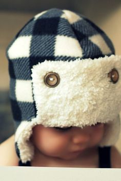 Trapper Earflap Hat — My baby would be so cute in this!!!