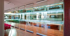 Hufcor movable glass walls divide large open spaces yet continue to access natural light.