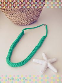 Knit and Love : CÓMO HACER UN COLLAR TUBULAR DE TRAPILLO SIN TRICOTÍN