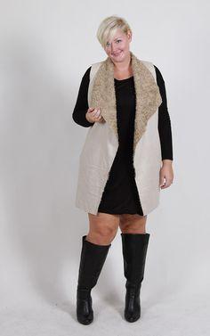 Plus Size Faux Fur Vest (Sizes 16 - 22) - Plus Size Fashion