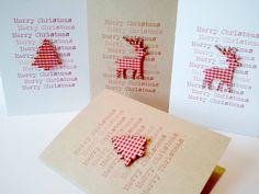 Handmade Christmas Cards | glitterglitteruk - Etsy