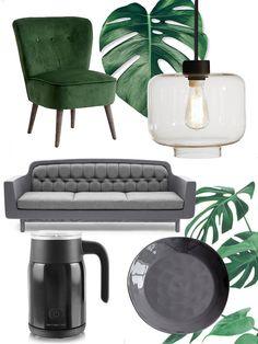Green and  grey interior Scandinavian Style - Scandinavian interior - Scandinavian home