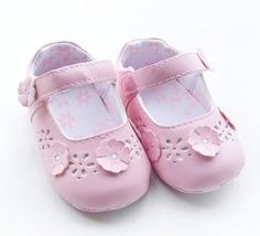 Girls Leather Lovely Baby Prewalker Baby Leather shoes Infant shoes toddler shoes baby first walker Little Spring baby wear