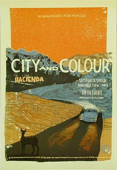 City and Colour New Fillmore Poster F1125