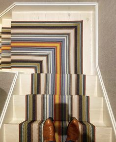 Stair Runners, Beach House, Stairs, Curtains, Home Decor, Beach Homes, Stairway, Blinds, Decoration Home