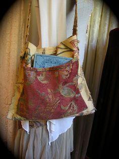 Bohemian Vagabond Bag handmade hippie nomadic bag slouchy hobo purse tattered frayed SMALL. $65.00, via Etsy.