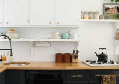 Wood Backsplash Backsplash Kitchen White Cabinets, Wood Backsplash, Kitchen Cabinets On A Budget, Kitchen Ideas, Inexpensive Backsplash Ideas, Cheap Tiles, Diy House Projects, Diy On A Budget, Diy Painting