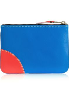 Comme des Garçons | Color-block fluorescent leather wallet | can someone please buy this for me?! :)
