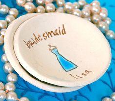 Bridesmaid Gift Dish  Ring Dish  Ring Bowl  by SayYourPiece