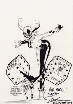 Harley Quinn by Jim Lee (Batman), in Artur & BiggiJ.'s Jim Lee Comic Art Gallery Room - 437342