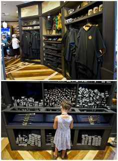 It sells everything from a Harry Potter-themed baby onesie to replica wands of the ones used by the film's major characters.