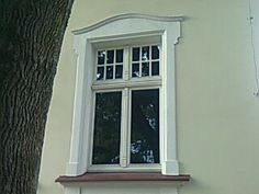 our window. The design is an exact copy of an original old wood window.