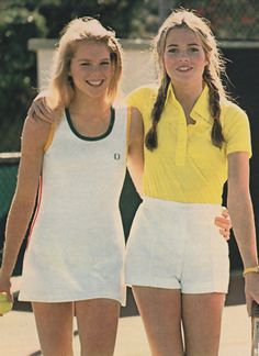 April 1978. 'Clean and classic. They're the kind of tennis clothes for really playing tennis.'