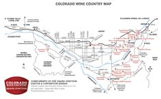 Grand junction palisade colorado wine country winery map more
